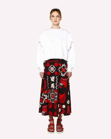 REDValentino RR0RAA75SQU 0NO Printed skirt Woman f