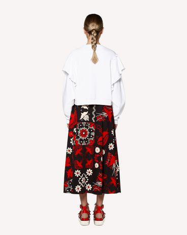 REDValentino RR0RAA75SQU 0NO Printed skirt Woman r