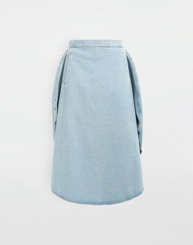 MM6 MAISON MARGIELA Circle midi denim skirt Denim skirt Woman f