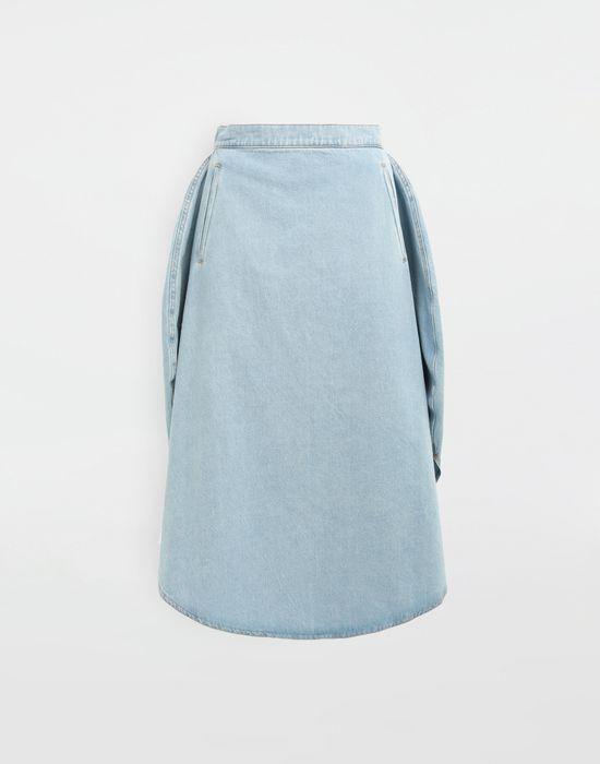 d2fc6ad97 Maison Margiela Circle Midi Denim Skirt Women | Maison Margiela ...