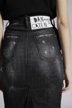 DSQUARED2 Black Denim Dalma Long Skirt Denim skirt Woman