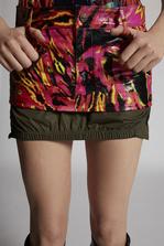DSQUARED2 Leather Biker Mini Skirt Mini skirt Woman
