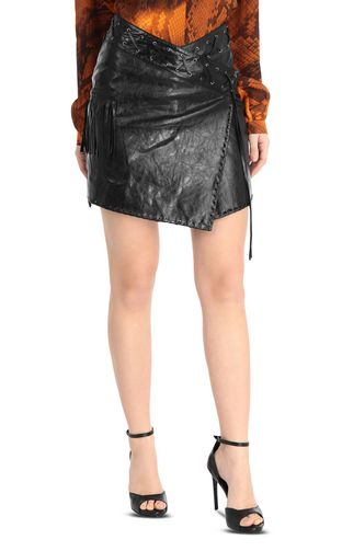 JUST CAVALLI Mini skirt [*** pickupInStoreShipping_info ***] Asymmetrical leopard-print skirt f