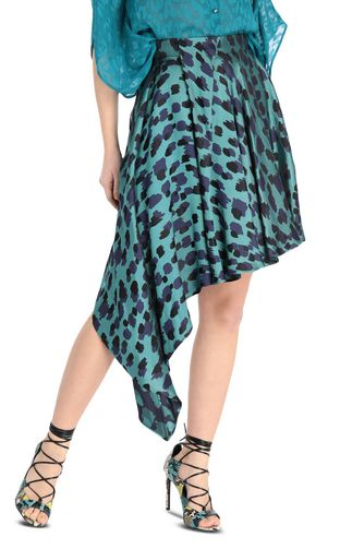 JUST CAVALLI Mini skirt Woman Asymmetrical leopard-print skirt f