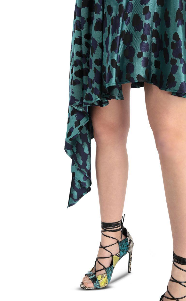 JUST CAVALLI Asymmetrical leopard-print skirt Mini skirt Woman e