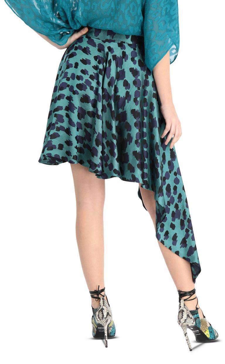 JUST CAVALLI Asymmetrical leopard-print skirt Mini skirt Woman r
