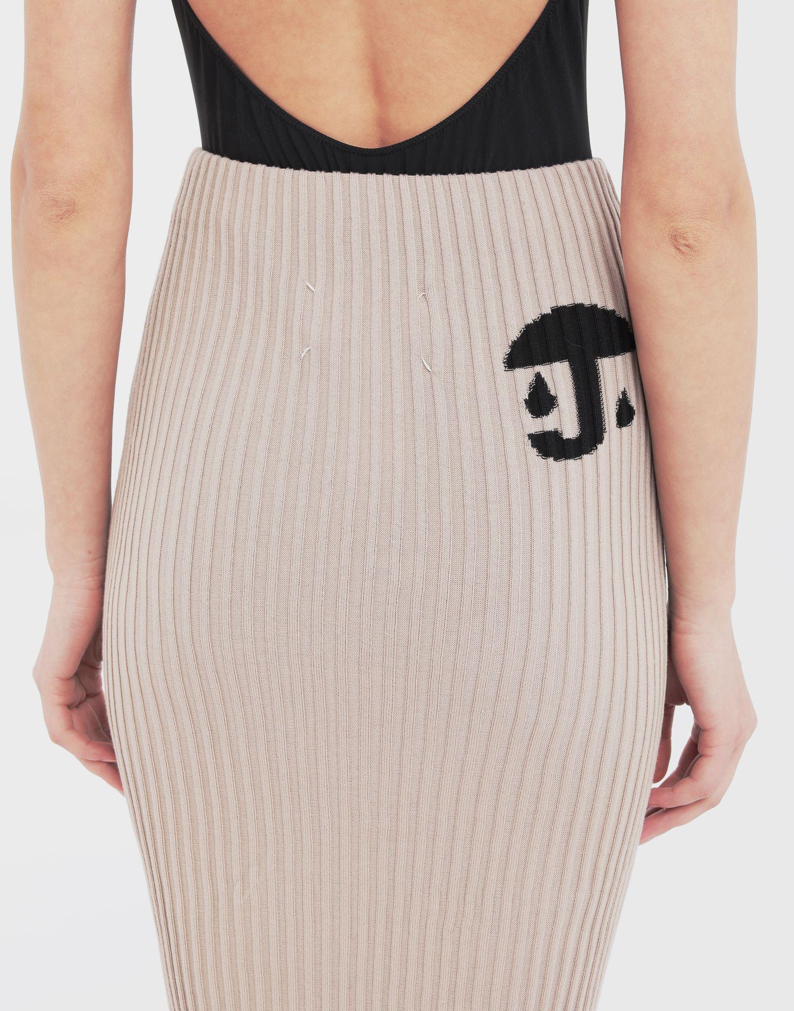 MAISON MARGIELA Knit ribs skirt in 'Carton' intarsia 3/4 length skirt Woman b