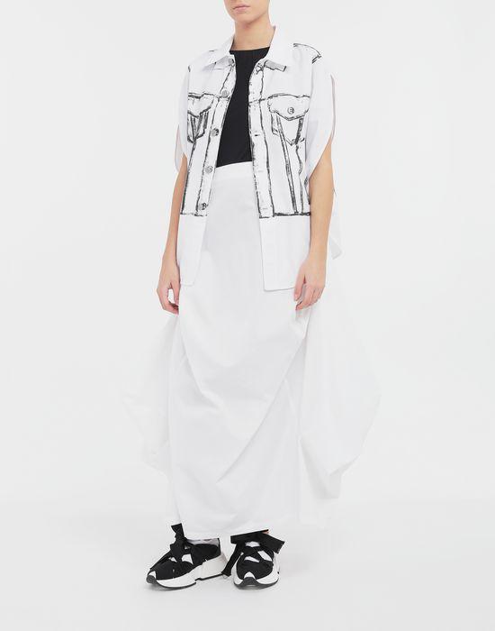 MM6 MAISON MARGIELA Seat Cover cotton skirt Long skirt [*** pickupInStoreShipping_info ***] d