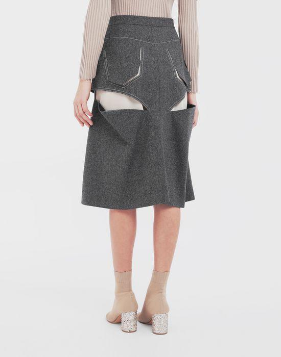 MAISON MARGIELA Jupe «décortiqué» mi-longue en laine Jupe mi-longue [*** pickupInStoreShipping_info ***] e
