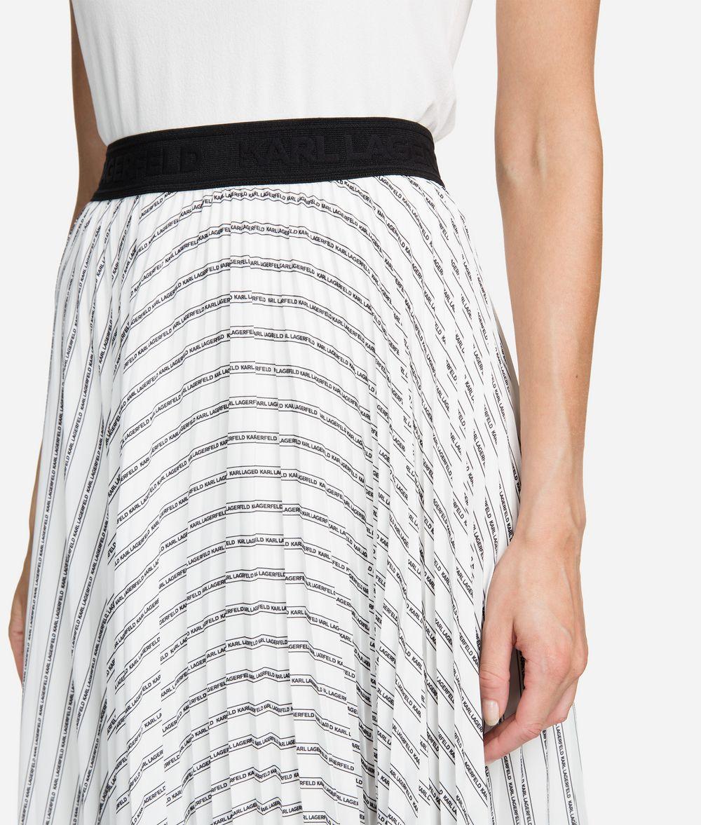 KARL LAGERFELD Pleated Logo Midi Skirt Skirt Woman d