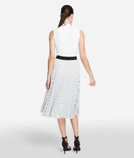 KARL LAGERFELD Pleated Logo Midi Skirt 9_f