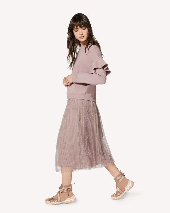 4396103a3d REDValentino Pleated Point D'esprit Tulle Skirt - Skirt for Women ...