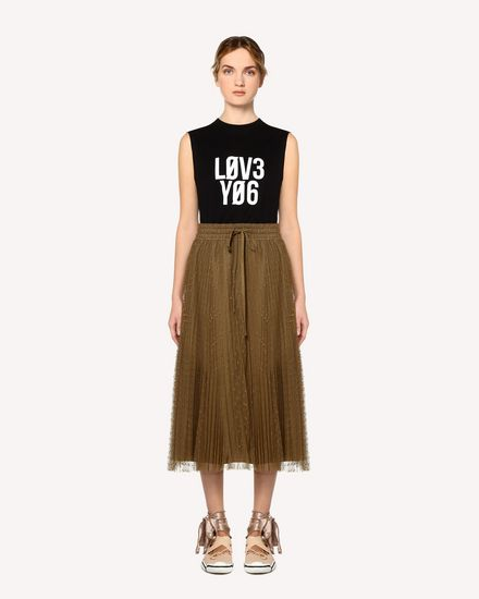 REDValentino Long skirt Woman RR0RAA70428 825 f