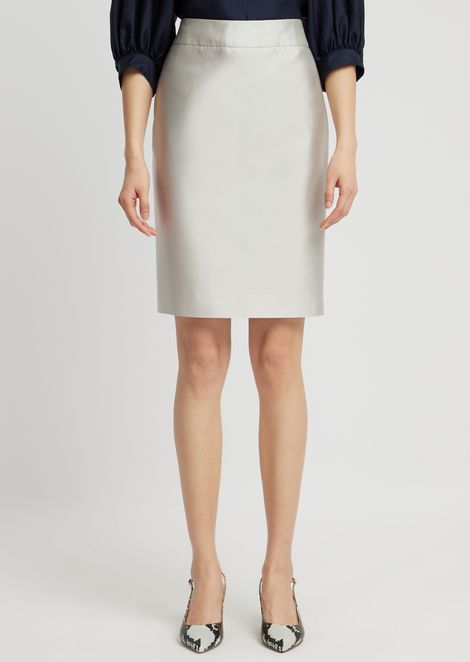 Silk and cotton radzimir pencil skirt