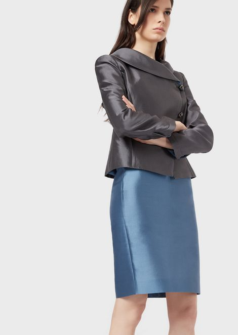 Silk and cotton radzimir pencil skirt