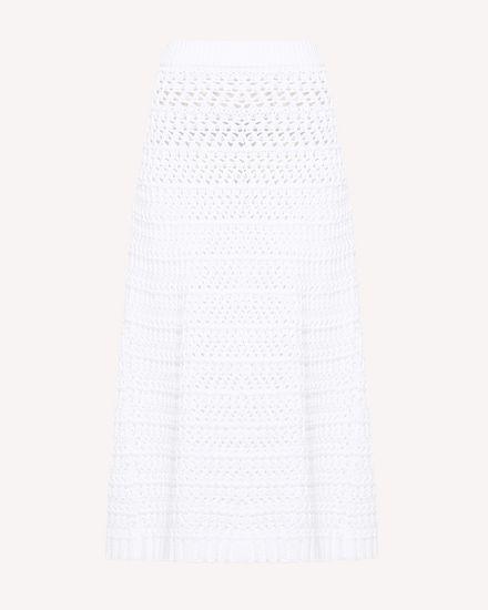 Хлопковая юбка, связанная крючком