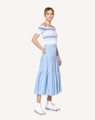 REDValentino RR0RAA850VU NV1 Long skirt Woman d
