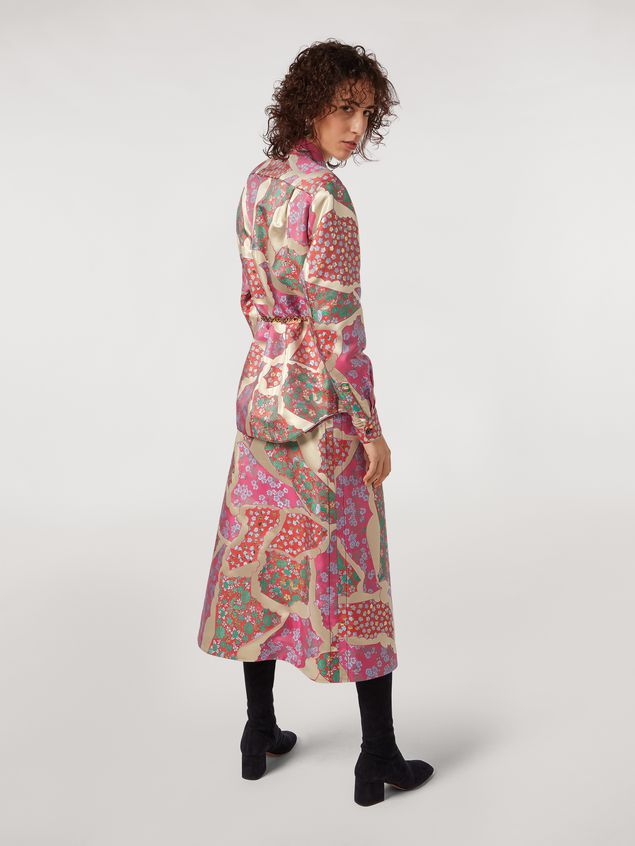 Marni Flared skirt in brocade patchwork Woman