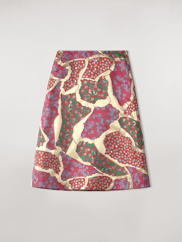Marni Flared skirt in brocade patchwork Woman - 2