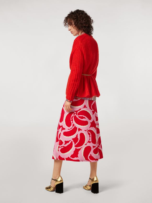 Marni Flared skirt in viscose cady Teardrop print Woman