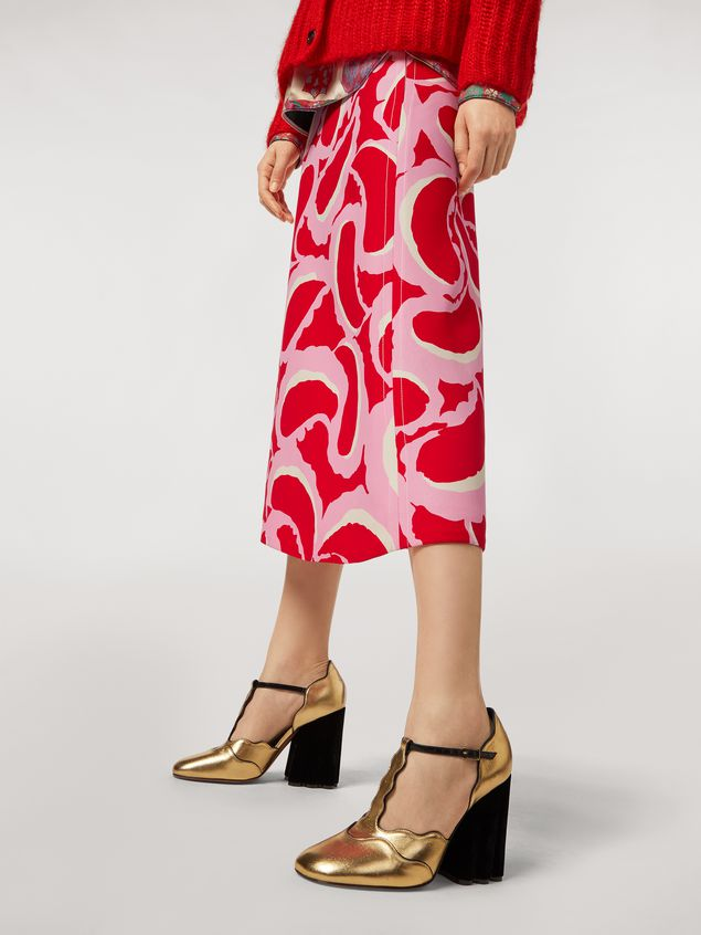 Marni Flared skirt in viscose cady Teardrop print Woman - 5