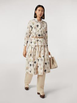 Marni Cotton poplin balloon skirt Booming print Woman