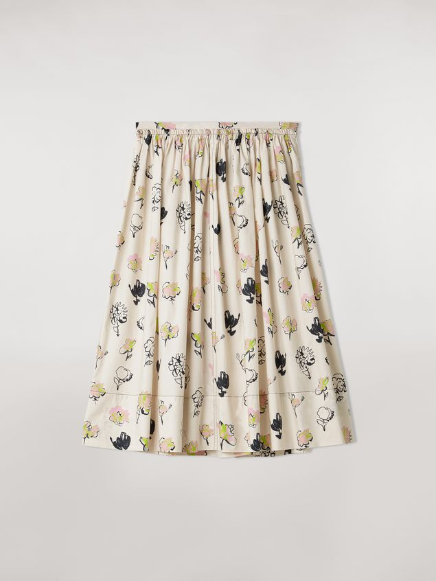 Marni Cotton poplin balloon skirt Booming print Woman - 2