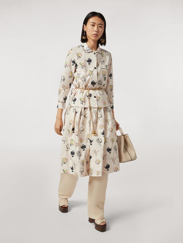 Marni Cotton poplin balloon skirt Booming print Woman - 1