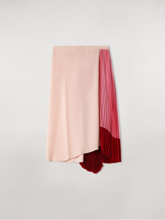 Marni Viscose satin skirt with contrasting insert Woman - 2