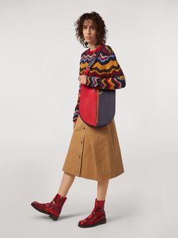 Marni Falda de dril de algodón y lino con cinturón Mujer