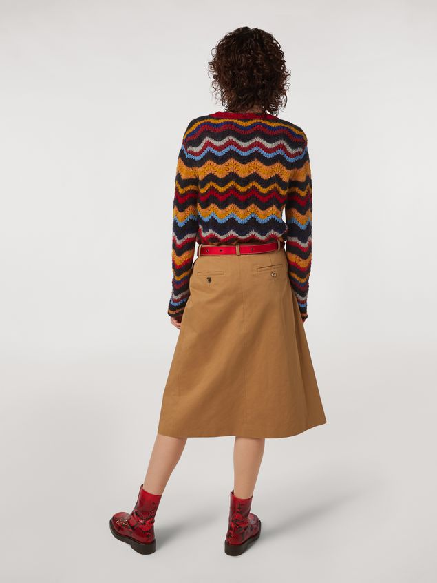 Marni Cotton and linen drill skirt with belt Woman