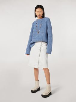 Marni Coated tweed wrap-up skirt Woman