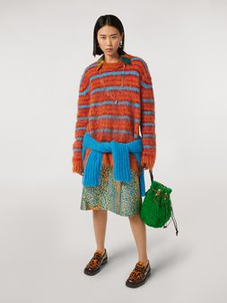 Marni Psychotropic printed cloqué wallet skirt Woman