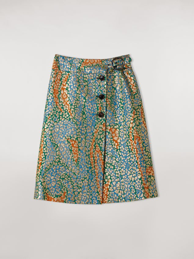 Marni Psychotropic printed cloqué wallet skirt Woman - 2