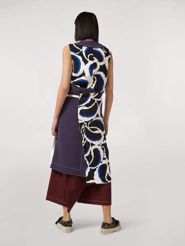 Marni Skirt in viscose cady Teardrop print Woman