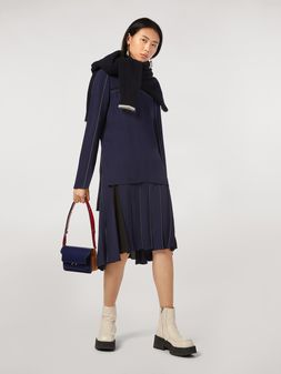 Marni Envers satin crepe pleated skirt Woman
