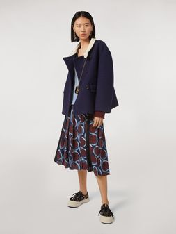 Marni Viscose sablé skirt with Paranoic print Woman