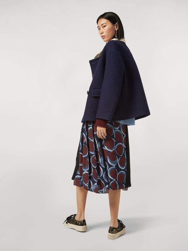 Marni Viscose sablé skirt with Paranoic print Woman