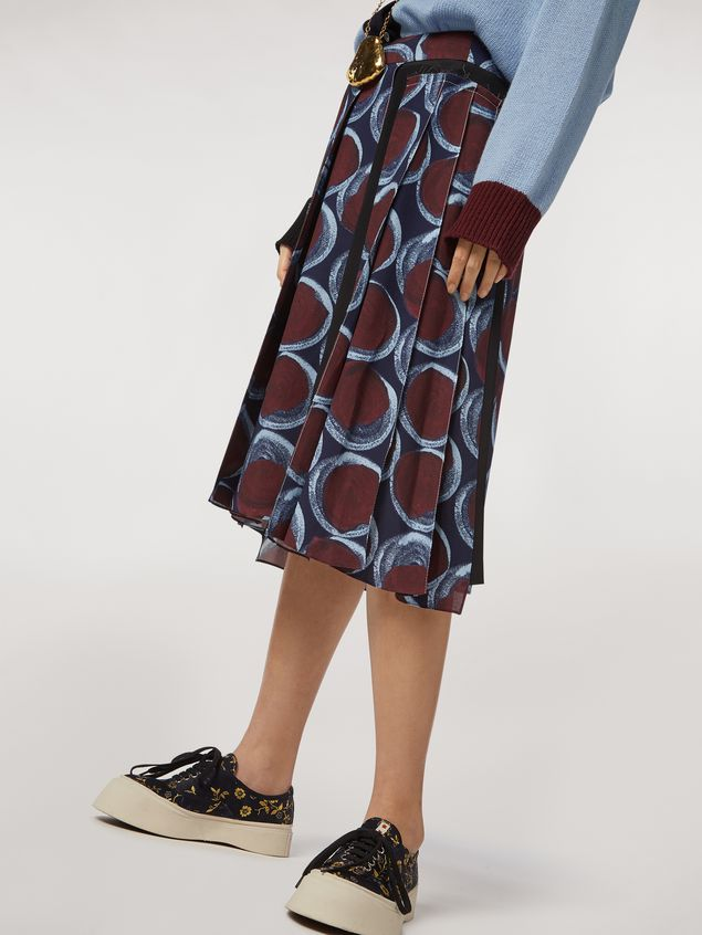 MARNI Skirt Woman Viscose sablé skirt with Paranoic print a