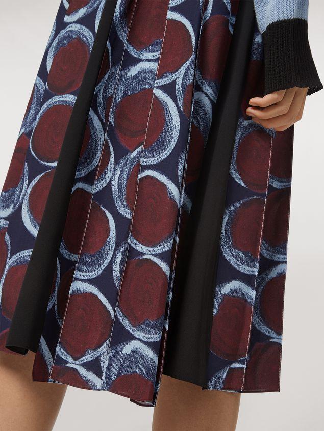 Marni Viscose sablé skirt with Paranoic print Woman - 4