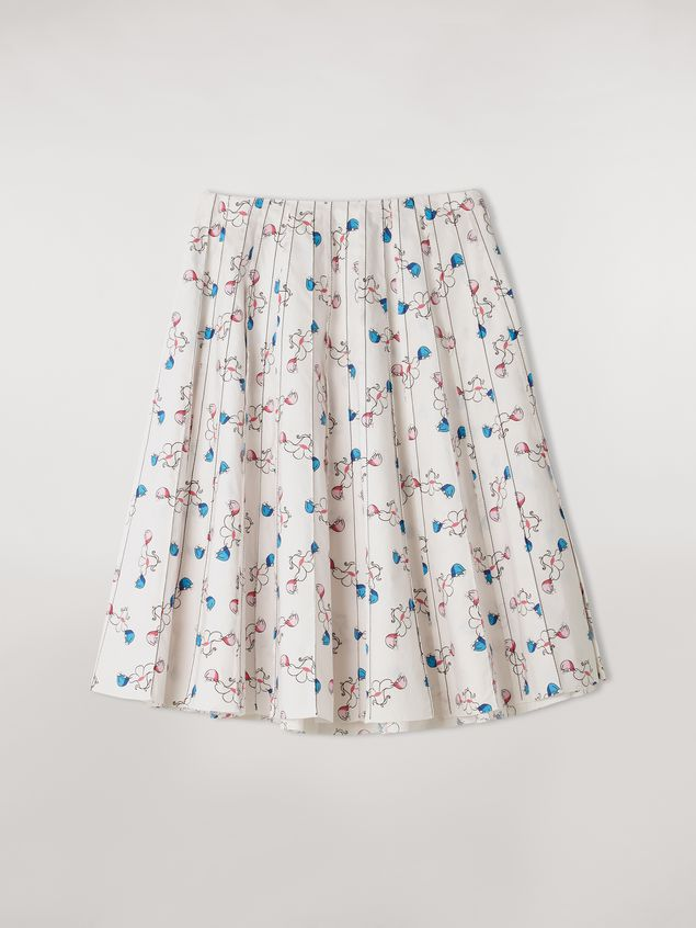 Marni Pleated cotton skirt Apres-Midi print by Bruno Bozzetto Woman - 2