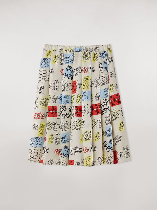 Marni Pleated silk skirt Memoria print Woman - 2