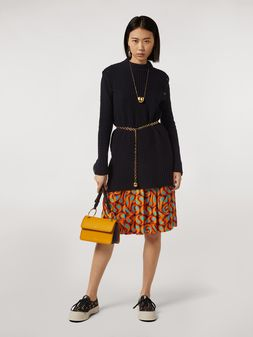Marni Pleated silk skirt Turbolent print Woman