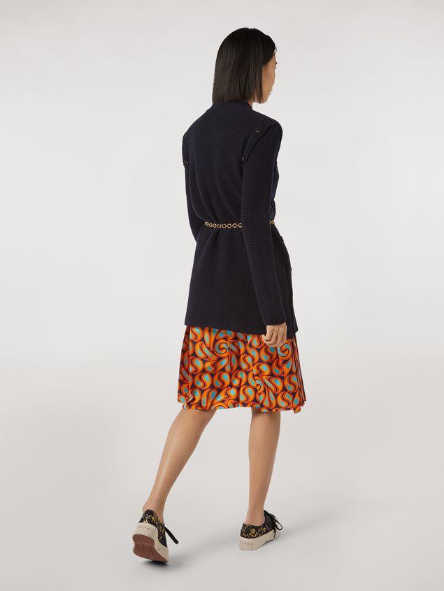 Marni Pleated silk skirt Turbolent print Woman