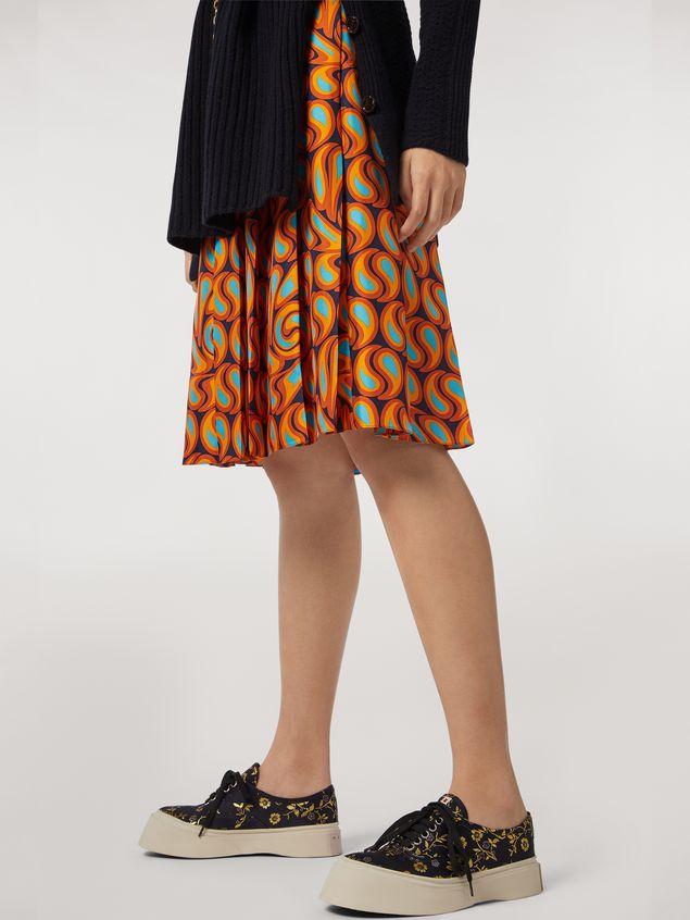 Marni Pleated silk skirt Turbolent print Woman - 5