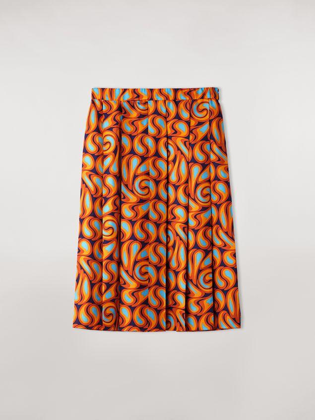 Marni Pleated silk skirt Turbolent print Woman - 2