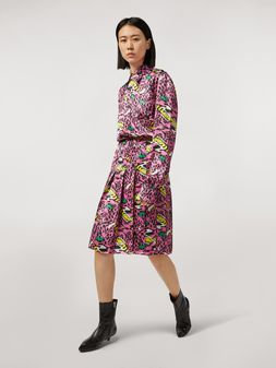 Marni Pleated viscose skirt Bolero print by Bruno Bozzetto Woman
