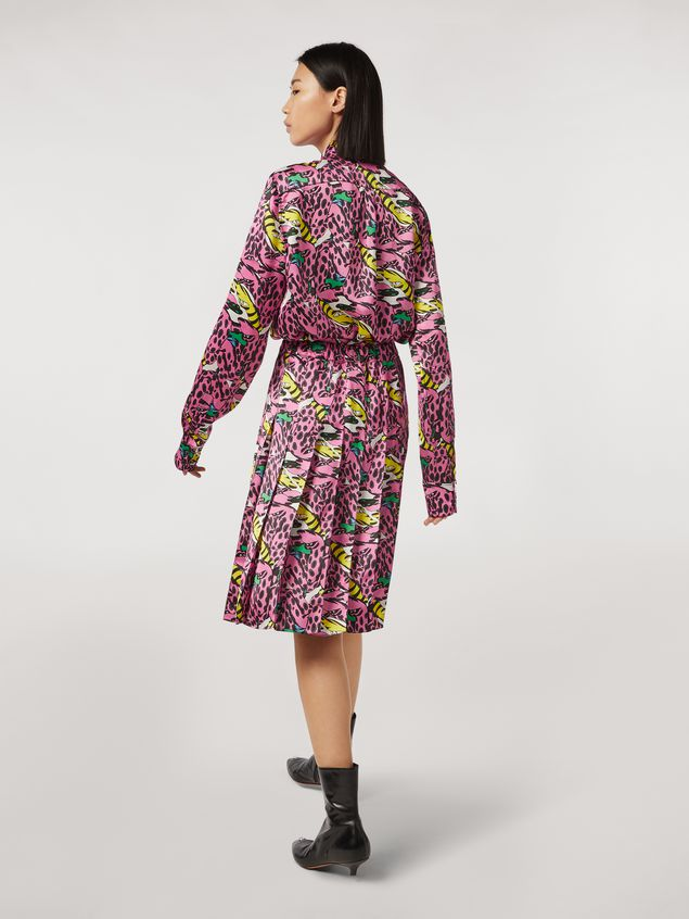 Marni Pleated viscose skirt Bolero print by Bruno Bozzetto Woman