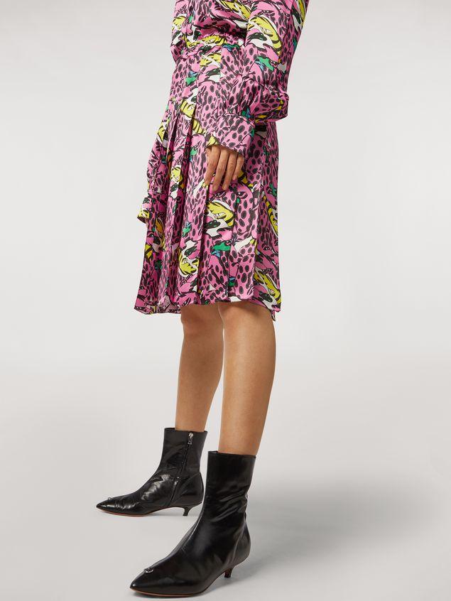 Marni Pleated viscose skirt Bolero print by Bruno Bozzetto Woman - 5