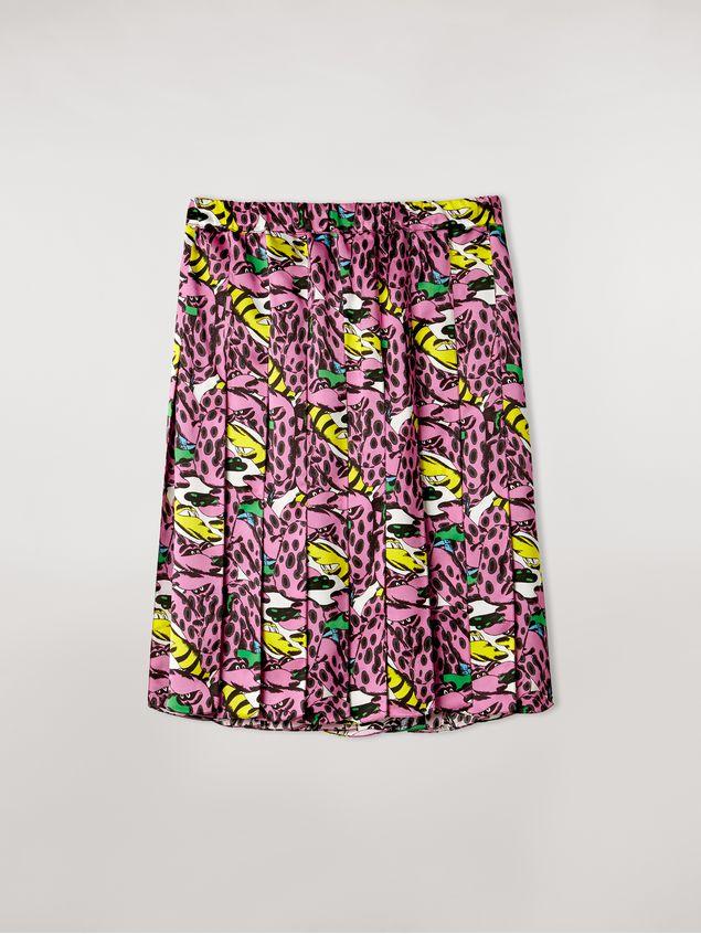 Marni Pleated viscose skirt Bolero print by Bruno Bozzetto Woman - 2